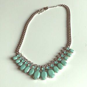 Jewelry - Aquamarine rhinestone necklace